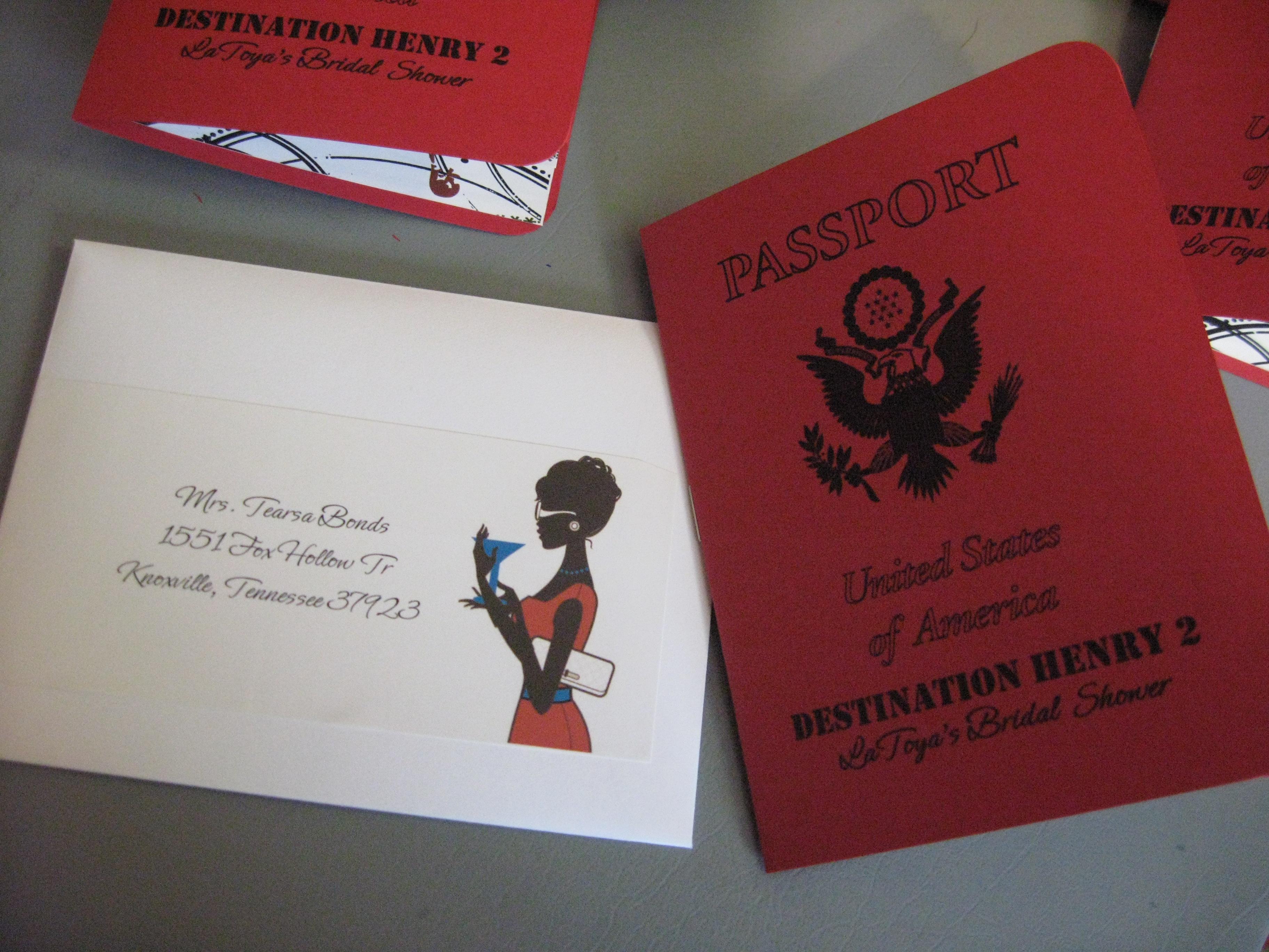 Passport Invitation | Create Me Papered